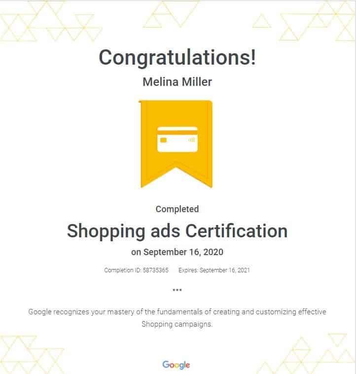 Google Shopping Ads Certification