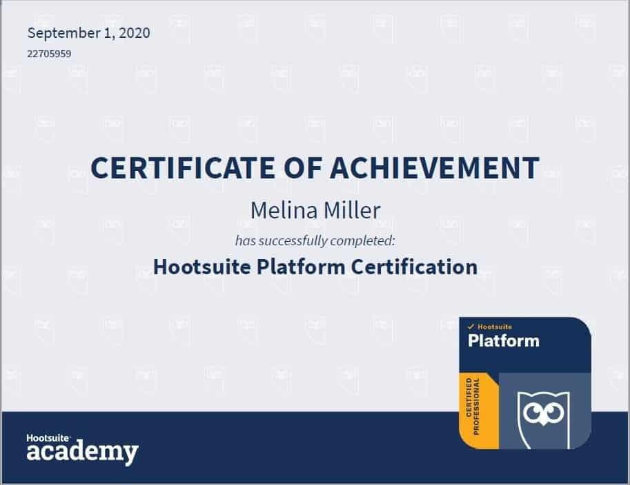 Hootuite Platform Certification