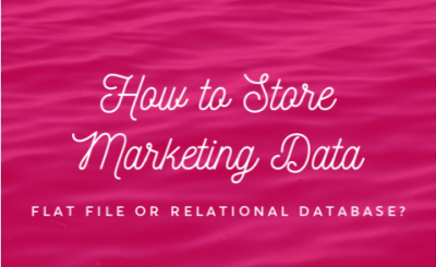 Flat File or Relational Database