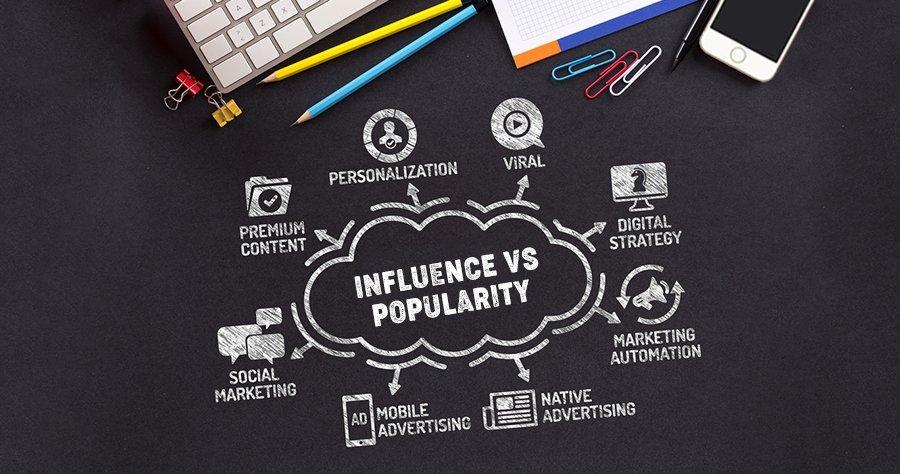 Influence vs popularity