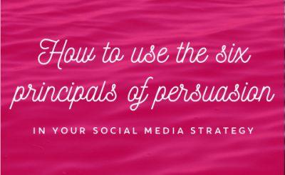 Six Principals of Persuasion
