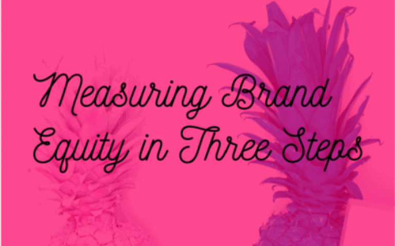 Measuring brand equity in three steps