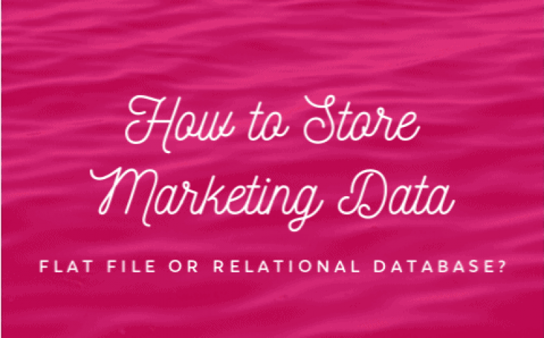 Flat File or Relational Database